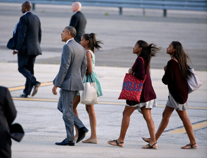 President Obama Takes His Daughters on a New York City Adventure